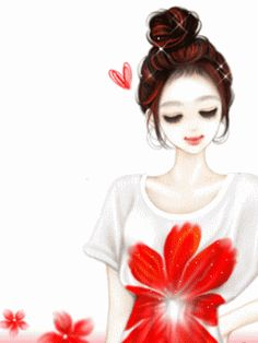 ✿♥Cute space of my magical world♥✿: korean kawaii girl cute gifs Anime Korea, Korean Anime, Cute Cartoon Girl, Cartoon Art, Kawaii Cute, Kawaii Girl, Cute Gifs, Cafe Pictures, Cute Couple Art