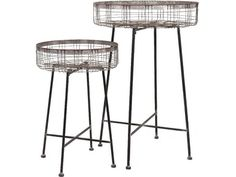 Shop IMAX Worldwide Pitzer Round Wire Plant Stands (Set of at Lowe's Canada. Find our selection of plant stands at the lowest price guaranteed with price match. Garden Plant Stand, Garden Basket, Plant Stands, Herb Garden, European Style Homes, H & M Home, Traditional Furniture, Outdoor Plants, Air Plants