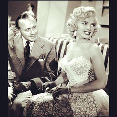 Marilyn making a guest appearance on The Jack Benny show