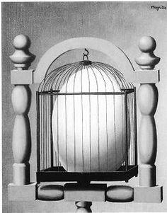 """Gibt es möglicherweise eine Wahlverwandtschaft zwischen dem """"iron cage"""" (dem """"stahlharten Gehäuse"""" Max Webers) und der Entstehung neuen Lebens? René Magritte """"Die Wahlverwandtschaften"""" (1933)"""