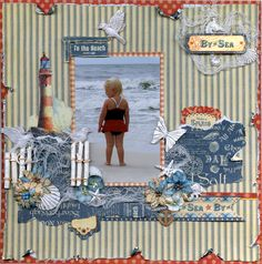 By the Sea Layout - Scrapbook.com By Memoriesofmygirls