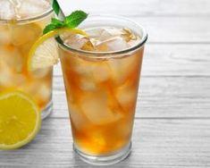 Recette de Thé glacé au citron Pint Glass, Detox, Tableware, Desserts, Cocktails, Drink, Kitchen, Appetizers, Ice Lemon Tea