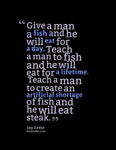 Jay Leno Quote Poster: Give a man [...]
