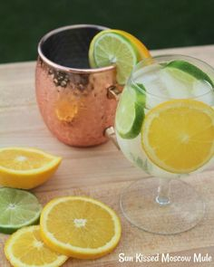 Sip on Citrus Perfection when you make this Sun Kissed Moscow Mule. Light, refreshing and absolutely amazing. Make the Sun Kissed Cocktail today, you& be happy you did. Sangria Recipes, Drinks Alcohol Recipes, Margarita Recipes, Non Alcoholic Drinks, Fun Drinks, Yummy Drinks, Cocktail Recipes, Wine Recipes, Wine Cocktails