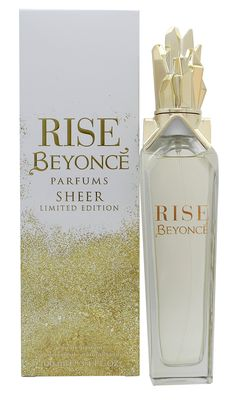 Beyonce Rise Sheer Limited Edition 100 Ml Edp Spray. Women's Fragrance. ml size perfect for travelling. Floral fragrance for women. Fragrance released in 2015.