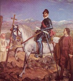 1541 – Santiago, Chile is founded by Pedro de Valdivia. | Pedro de Valdivia por Zuloaga (Palacio de la Moneda)
