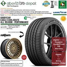 Goodyear EAGLE EXHILARATE All Season Performance Tire 235/40ZR18 XL 95Y Rotiform Wheels Goodyear Eagle, Service Map, Performance Tyres, Wheels, Seasons, Seasons Of The Year