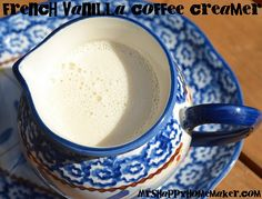 Homemade French Vanilla Coffee Creamer    -14oz sweetened condensed milk  -14oz milk (whole, lowfat, or skim – doesn't matter)  -2 teaspoons vanilla extract OR Vanilla -Coffee Syrup for a stronger flavor  -a mason jar (quart is perfect)