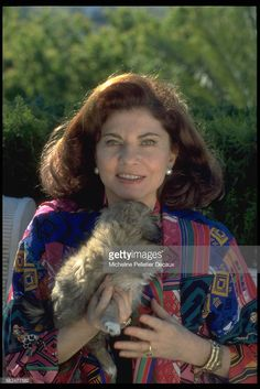 Princess Soraya at home in Marbella in April 1991.