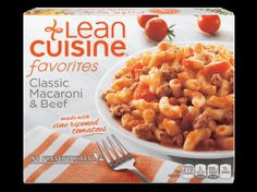 Stouffer's Lean Cuisine One Dish Favorites Classic Frozen Macaroni & Beef - Size: Ounces - Shopping list - Pasta Rezept Lean Cuisine, Delicious Restaurant, Microwave Recipes, Frozen Meals, Cooking Instructions, How To Cook Pasta, Macaroni And Cheese, Easy Meals, Healthy Meals