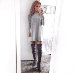 Thigh highs are my Autumn favourite @leannelimwalker