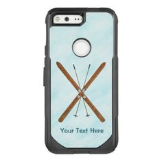 #rustic - #Cross-Country Skis On Snow OtterBox Commuter Google Pixel Case