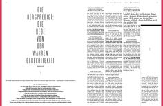 www.bibelalsmagazin.de / Lesbares, aufgeräumtes Design. Das Neue Testament als Magazin / Einheitsübersetzung / Bibel / Design / bible