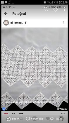 Crochet Tablecloth, Bargello, Hand Embroidery Designs, Filet Crochet, Elsa, Tulle, Stitching, Crochet Table Topper