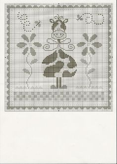 Nice design for Easter Card? Cross Stitch Cow, Simple Cross Stitch, Cross Stitch Samplers, Cross Stitch Animals, Cross Stitching, Square Patterns, Cross Stitch Patterns, 123 Stitch, Christmas Cross