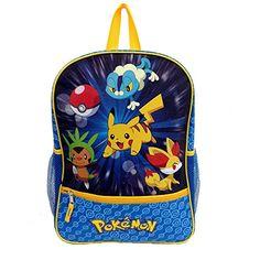 Amazon.com  Pokemon X   Y Starters Backpack Froakie Chespin Fennekin  Reflective  Toys   Games 26d9fc14f0c56