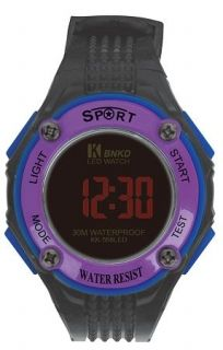 LED Digital Watch with Calendar, 30m Water Resistance Purple Item No. : 55558  Price : $4.99  Category : Sport Watches
