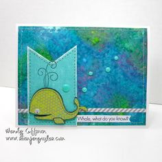 card by Wendy Coffman.... love the background she created using salt and water