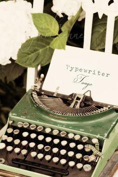 Typewriters, remember them?