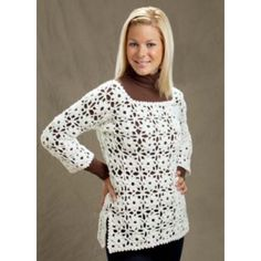 Crochet Patterns Galore - Daisy Lace Pullover