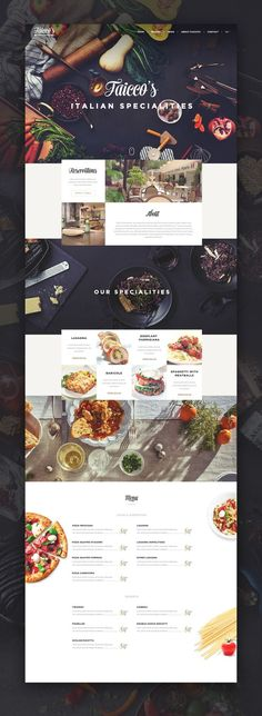 restaurant website This is our daily Website design inspiration article for our loyal readers. Every day we are showcasing a website design ideas whether live on app stores or only designed as concept. Layout Design, Design De Configuration, Layout Web, Site Web Design, Design Sites, Web And App Design, Food Web Design, Graphisches Design, Website Layout