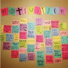 What a great idea!  How about 25 motivational mantras? Check them out!  #motivational #mantras #inspiration Motivation Boards, Fitness Motivation Wall, Weight Loss Motivation, Motivation Inspiration, Inspiration Boards, Fitness Inspiration, Exercise Motivation, Fitness Quotes, Quote Wall