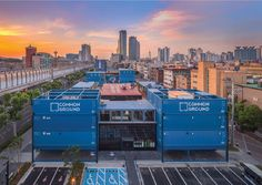 Urbantainer designed Common Ground in Seoul, the world's largest shopping mall constructed with shipping containers.