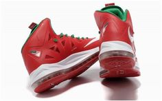 Nike Lebron 10 Red White Green1
