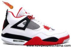 san francisco f9e95 4ef80 2013 New Mars Blackmon (White   Varsity Red - Black) Air Jordan 4 (IV)  Retro Sports Shoes Store