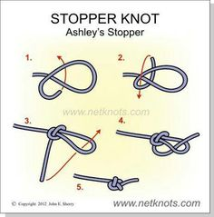 Stopper Knot - How to tie a Stopper Knot - Jewelry Techniques - Stopper Knot – also known as the Oystermans stopper, is a knot developed by Clifford Ashley aroun - Jewelry Knots, Bracelet Knots, Seed Bead Jewelry, Jewelry Crafts, Beaded Jewelry, Handmade Jewelry, Beaded Bracelets, Beaded Necklace, Knots For Bracelets