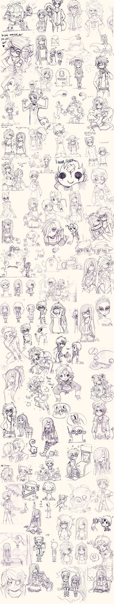 Super OC Sketch Dump by Pyromaniac.deviantart.com on @deviantART