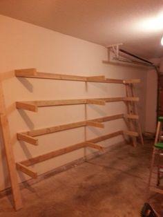 DIY Garage Shelves - Imgur