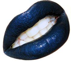 Navy Black Blue Lipstick Lip Paint by MyBeautyAddiction on Etsy, $7.50