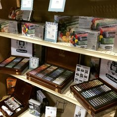 Pastel heaven at the Chartpak booth at NAMTA showcasing the Schmincke line of soft pastels. Conte A Paris, Art Supply Stores, Liquitex, Soft Pastels, Art Supplies, Heaven, Canada, Fine Art, Sky