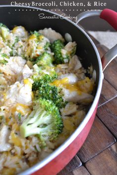 Cheesy Broccoli, Chicken, and Rice - Sarcastic Cooking- one pot wonder!
