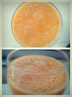 A esta hora sabe tão bem... Venha o calor! SFF!  Batido de cenoura, manga e laranja  *1 cenoura  *o sumo de 1 laranja *½ chávena de manga cortada em cubos *¼ colher de chá de gengibre em pó *1 colher de sopa de sementes de linhaça *200 a 250 ml de água  Coloque as frutas e vegetais no liquidificador, juntamente com a água e as sementes, e triture até obter um batido cremoso. Se necessário, adicione mais água.