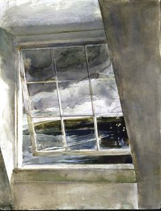 "*Watercolor - ""Window"" By Andrew Wyeth"