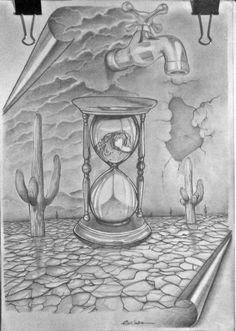 Ilustração, falta de água-Edi santos Illustration , water shortages- Edi santos