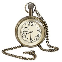 Classic Smooth Vintage Numeral Metal Gold Color Mens Womens Pocket Watch - 1.8 Inch RoyaltyLane http://www.amazon.com/dp/B01C6XPBBQ/ref=cm_sw_r_pi_dp_LZN3wb03CWVP8