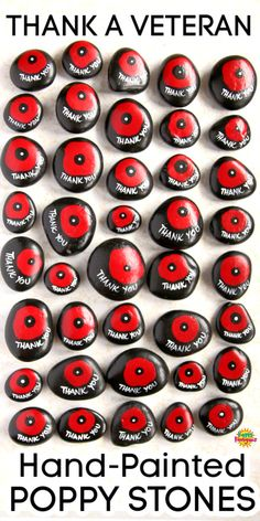 Poppy Craft For Kids, Craft Kids, Fun Crafts For Kids, Kid Crafts, Remembrance Day Activities, Veterans Day Activities, Art Activities For Kids, Rock Painting Patterns, Rock Painting Designs