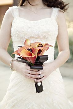 burnt orange Calla Lillies