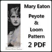 Mary Eaton Retro Peyote and Loom Pattern - via @Craftsy