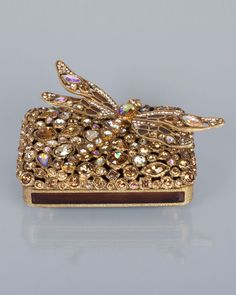 Fredrico Bejeweled Dragonfly Box (Gold)