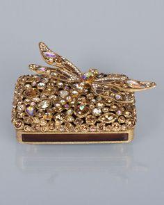 Fredrico Bejeweled Dragonfly Box (Gold)