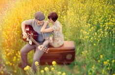 anniversary shoot in a mustard field  - the whole shoot is amazing! -