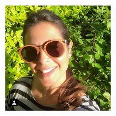 Nuria Roca with Woodys sunglasses
