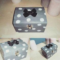 Dots box with black clay ribbon #gioiedifimo
