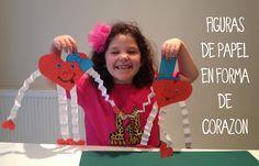 Etapa preesquemático : 4 a 7 años Manualidad figuras de papel en forma de corazón
