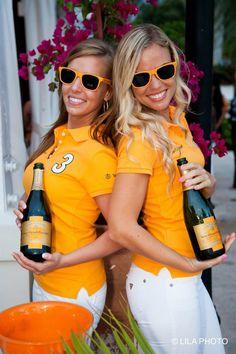 Veuve Clicquot event girls