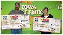 Winners From Neighboring SE Iowa Counties Claim $1 Million Prizes On Same Day 11-23-2015